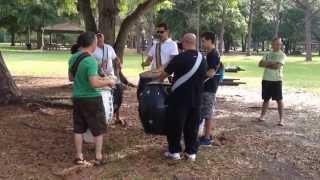 Drumming group in Al Lopez Park