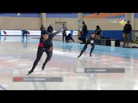 Olympic Long Track Speedskating Trials | Heather Bergsma And Jerica Tandiman Skate The Women's 1,000