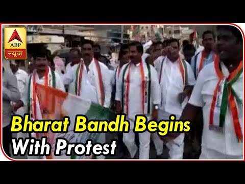 Bharat Bandh begins with protest in Bihar, Odisha, Andhra and Rajasthan