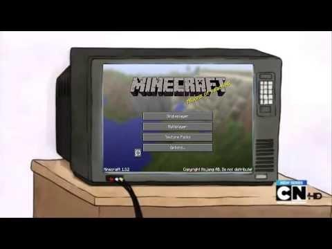 Mordecai y Rigby Juegan Minecraft