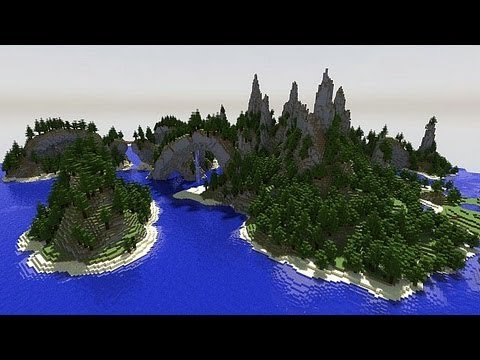 MineCraft 1.6 SnapShot 13w21a Mountain Forest Biomes!