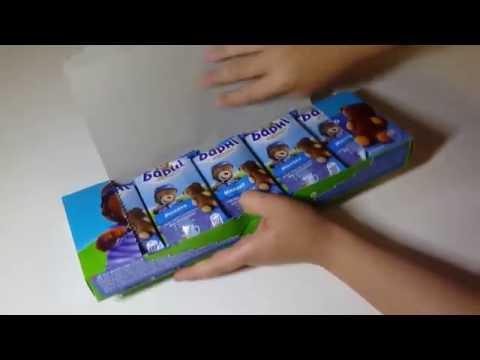 Медвежонок Барни со вкусом молока barni барни бисквит челлендж vlog challenge