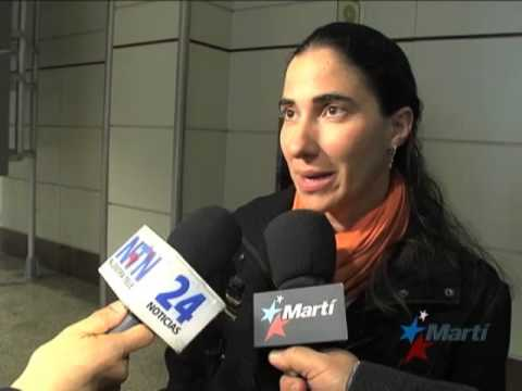 TV Martí Noticias — Yoani Sánchez llega a Madrid