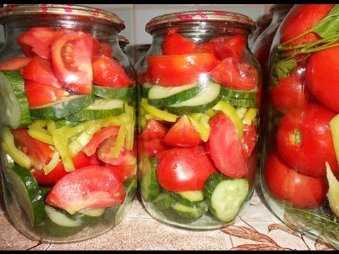 Салаты на из помидор на зиму рецепты