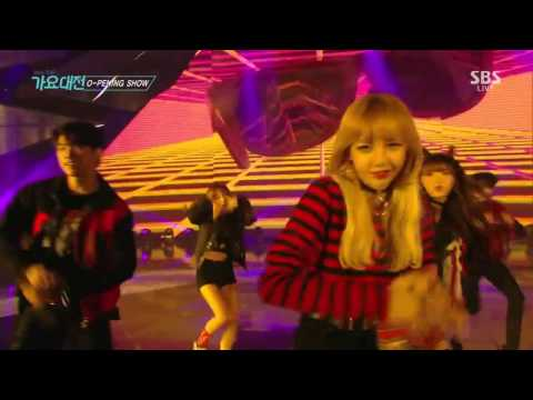 161226 TEN, LISA ,Seulgi ,Jinyoung, Yugyeom Street Dance Performance @ 2016 SBS Gayo Daejun