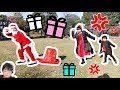 ★「お寝坊サンタにおうくんのプレゼント盗まれた~?」公園でピクニック★