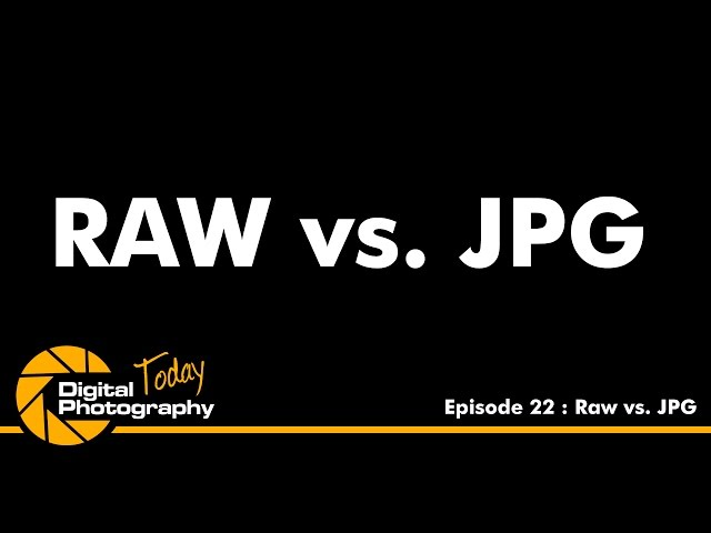 Episode 22 - RAW vs JPG [Digital Photography Today]