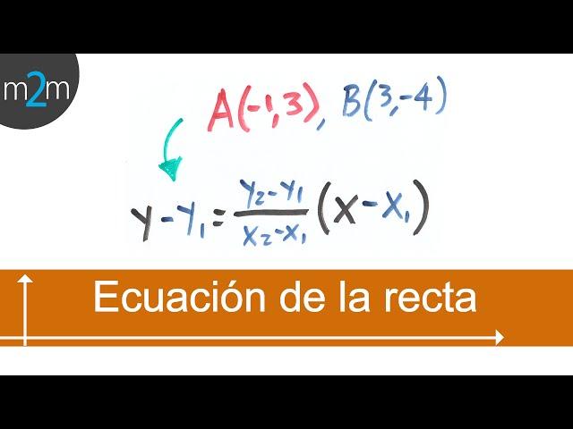 Ecuación ordinaria de la recta, conociendo 2 puntos - HD
