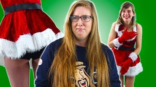 Women Try On Sexy Christmas Costumes