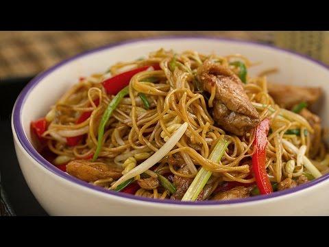 Cocino Asia: Chow Mein de Pollo - Fideos Chinos fritos con pollo (China)