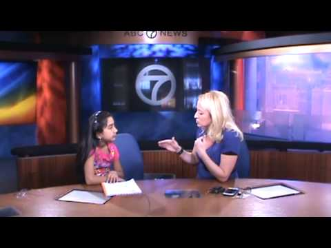 Short clip of Rebecca interviewing WJLA TV meteorologist Lauryn Ricketts for her project on Weather