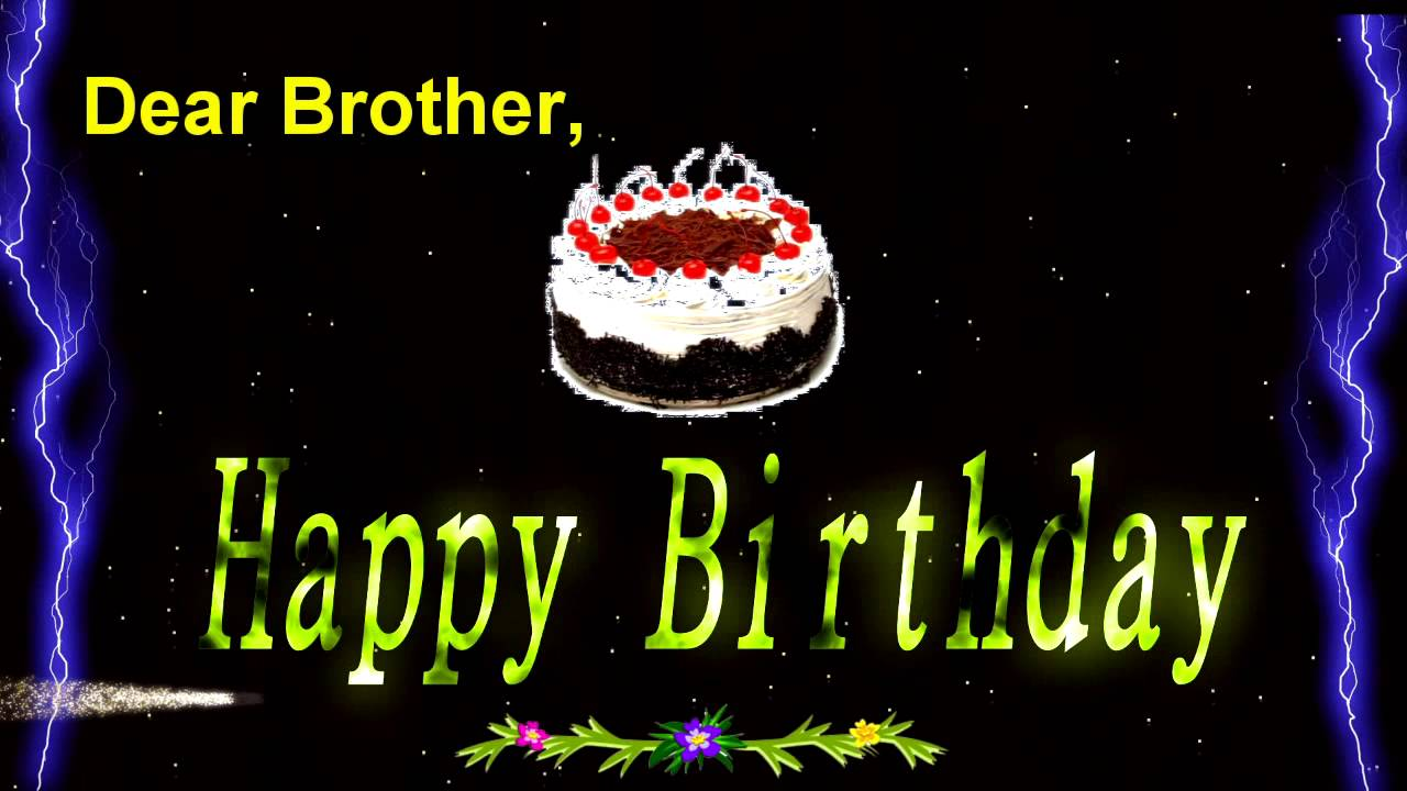 Animated Birthday Card For Brother