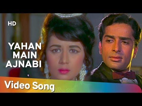 Yahan Main Ajnabee Hoon - Shashi Kapoor - Nanda - Jab Jab Phool...