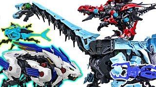 Zoids Wild insect Kuwaga, dinosaur Grachiosaurus VS beast Wild Liger, Kabtor battle! #DuDuPopTOY
