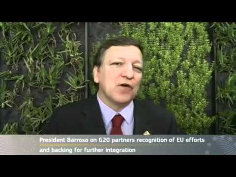 President Barroso on G20 recognition of EU efforts and support for further integration