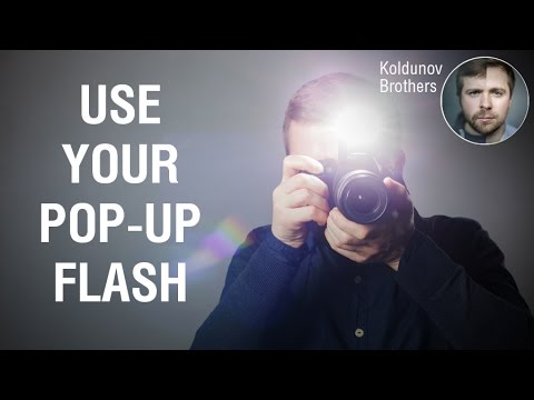Simple trick with pop-up flash