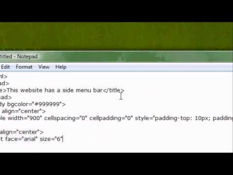 HTML Website Design Tutorial - How To Make  a Side Menu Bar