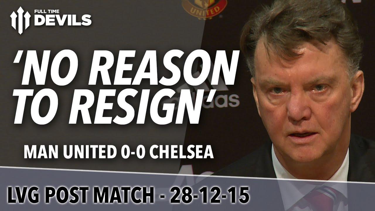 Manchester United 0-0 Chelsea | Louis van Gaal's Presser