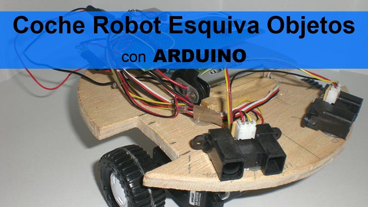 Coche robot esquiva objetos con sensores arduino