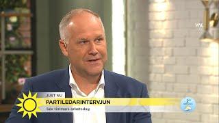 """Jonas Sjöstedt: """"Jag vill inte att Sverige ska vara ett skatteparadis som det ä - Nyhetsmorgon (TV4)"""