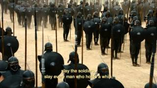 Daenerys gets her army and burns Astapor. Game of Thrones 3x04