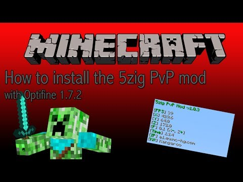 How to install the 5zig pvp mod with Optifine 1.7.2 MAC (English)