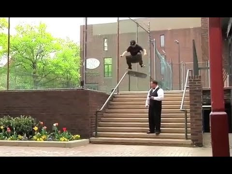 """INSTABLAST! - Skater """"Throws Away"""" Scooter!! Fs Flip Right Past Security!! INSANE Ladder Drop-In!!"""