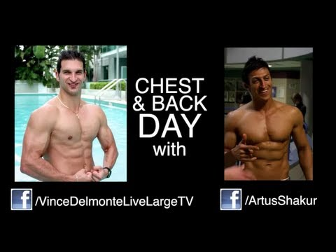 Chest and Back Workout - Pro Fitness Models Vince Del Monte & Artus Shakur