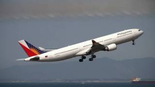 Philippine Airlines Aribus A330-300 Take off at Nagoya