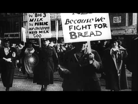 Labor unrest involving coal miners, auto workers, and farmers, in the 1930s in th...HD Stock Footage