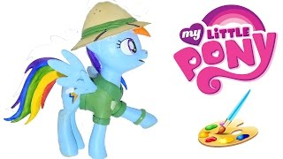 mlp oc from My Little Pony Stranger Than Fan Fiction movie. DIY toy from play doh and paint HD