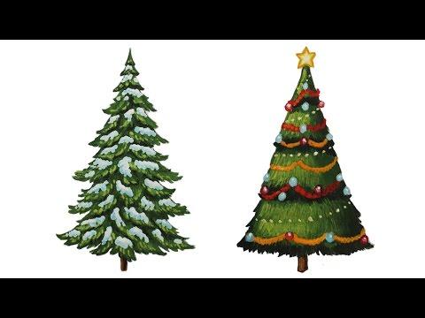 Видео как нарисовать рождество карандашом поэтапно