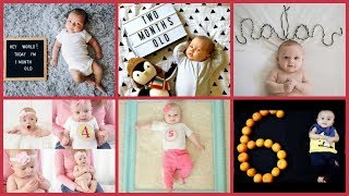 Monthly Baby photoshoot ideas | Creative Baby Photography ideas|
