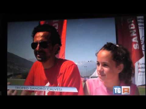 Aidana Fuschetto,  la campionessa Italiana, al Tg Rai - Saint Christophe 12.07.15