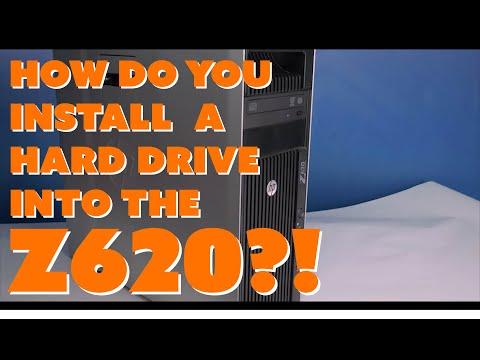 HP Z620 Hard Drive Installation