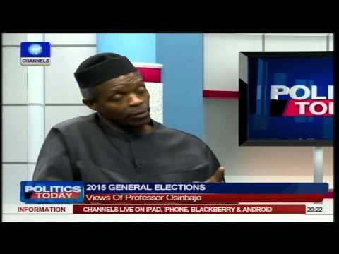 Labelling Buhari A Fundamentalist Is Unfair - Prof Osinbajo