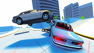 BURNOUT STYLE CRASH SCENARIOS! - BeamNG Crash Junctions UPDATED