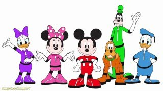 Minnie Mouse Color And Play Clup House Paint 3D Color