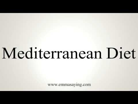 How to Pronounce Mediterranean Diet