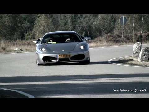 Ferrari F430's racing on military base! Lovely Sounds!! - 1080p HD