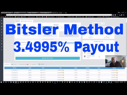 Bitsler Method - 3.4995% Payout - Watch Me Get Slapped By The Bitsler Gods
