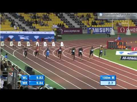100M Men Diamond League Doha Qatar 2012
