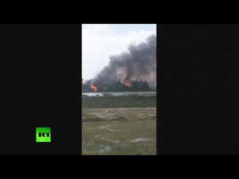 RAW: Rohingya houses reportedly set on fire by Myanmar security services