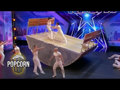 America's Got Talent 2017 Diavolo High Flying Dangerous & Innovative Acrobatic Group Full Audition