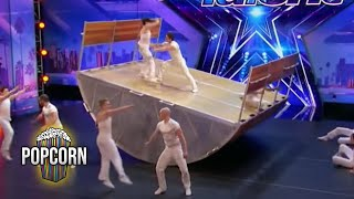 Download Lagu America's Got Talent 2017 Diavolo High Flying Dangerous & Innovative Acrobatic Group Full Audition Gratis STAFABAND