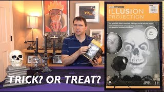 Gemmy Illusion Projection HALLOWEEN REVIEW - Is this LED Lightshow a Trick or a Treat?