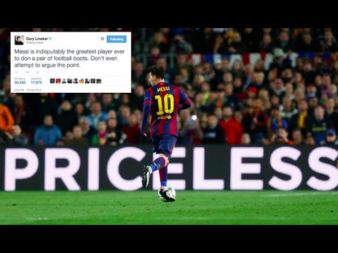 Footballers & ex-pros pay tribute to Leo Messi on Twitter for MOTM display v Man City