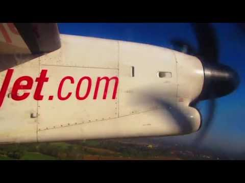 Takeoff from Udaipur - SpiceJet Dash 8 Q400