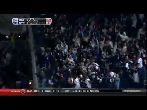 Yankees vs Orioles -- Raul Ibanez hits 2 Home runs  To Win In ALDS Game 3
