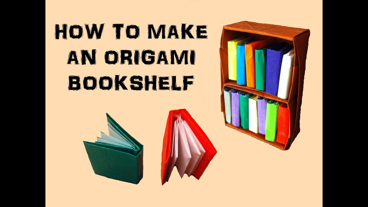 How to make an origami bookshelf youtube